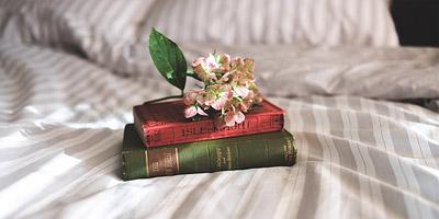 knjige na krevetu